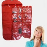 Multi-Function Jewelry Hang the Bag Fabric Pockets Foldable Hanging Jewelry Organizers 51 Packets