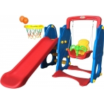 Best Toy Slide And Swing, Blue,