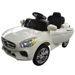 Costway Kids Ride On Car 6V Electric Battery Remote Control Radio Children Toys MP3 (white)