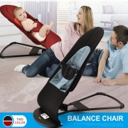 Newborn Support Soft Toddler's Rocking Balance Chair Baby Bouncer Black / Red