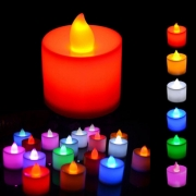 24 LED Candles Multicolour