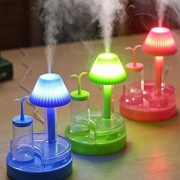 USB Portable Mini Cool Desk lamp Humidifier Purifier DC Office Air Diffuser Mist Maker with LED Nightlight