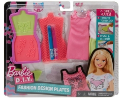 Barbie D.I.Y. Fashion Design Plates Pink