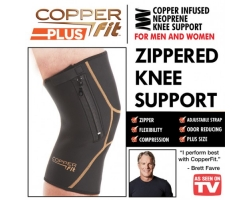 Copper Fit Plus Knee Brace Zipper and Adjustable Strap Small Size