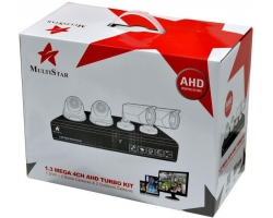 MultiStar 4 Channel AHD 2.0 MP/ Security Camera Kit
