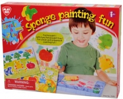 Playgo Sponge Painting Fun Poster Paint