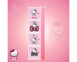 1 x 4 Cube Hello Kitty Pink