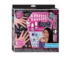 Monster High 300 Piece 3D Nails Art Design Set
