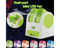 Dual Air Conditioner Shaped Mini Cooler Fan