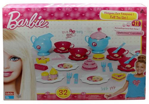 Barbie-BRB Big Tea Set, Multi Color