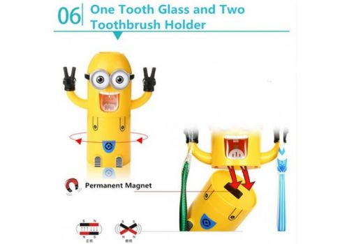 Minions wash kit Toothpaste Dispenser