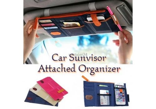 Car Organizer Sunvisor Hanger Pouch & Cards Holder